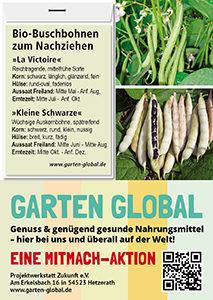 Garten Global samenfestes Saatgut Buschbohnen