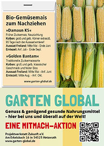 Garten Global - Samenfestes Saatgut Mais