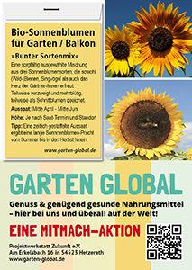 Garten Global samenfestes Saatgut Sonnenblumen